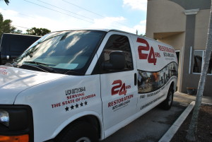 24 Hrs Restoration Inc Service Van